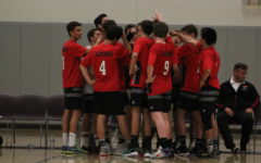 Boys Varsity Volleyball team qualifies for and wins the CIF semifinal game
