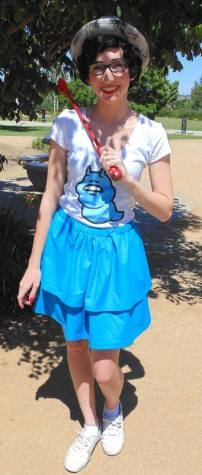 Anya Vail poses as Jane Crocker from Homestuck. She dressed up to go to the SanDiegostuck's Heroes and Villains meetup to interact with other fans. Photo Credit: Eric Faralan