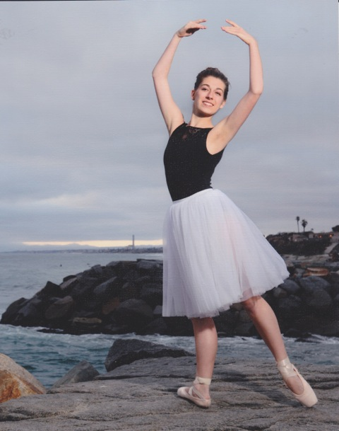 Megan Sherman poses for by the ocean. Photo courtesy of Kit Chow from Jakrel Photography.