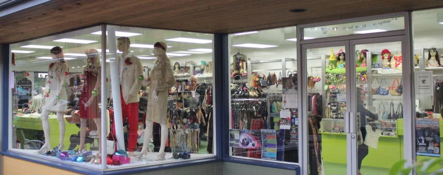 Flashbacks is known for its eccentric and sometimes bizarre clothing and accessories.