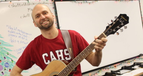 Mr. Sheffield from childhood to college to subbing at CAHS