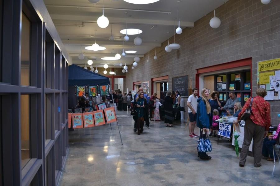 Artwork from CAHS, TCA and CAMS lined the hallways, as well as family oriented booths for painting, face painting, sand art and others.