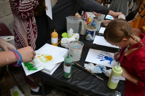 Students participated in family friendly, art related activities.