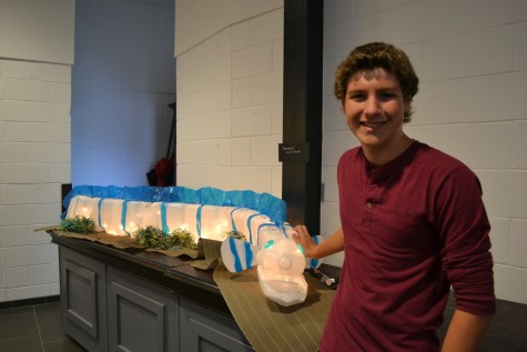 "Freshman Eric Bennett helped make one project titled ""Shock Wave"" which was displayed during the festival. ""I'd say [I worked on it for] a couple weekends, [and] a couple hours each day, so [it took] probably ten hours or so [to make],"" said Bennett."