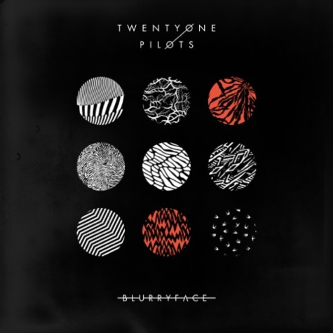 Every detail on the cover of new album was carefully planned out by Joseph and Dun. The use of red as opposed to the usual black and blue is representative of the character Blurryface. Photo from wikipedia.org.
