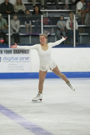Sophomore Elizabeth Poling dedicates her days to ice-skating, spending hours on the ice