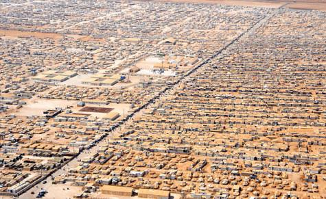An aerial view of Jordan's Za'atri camp for Syrian refugees. Image courtesy of U.S. Department of State.