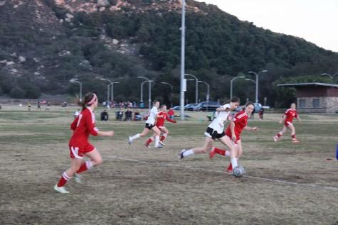 CAHS Girls Varsity Soccer kicks off their first game of the season