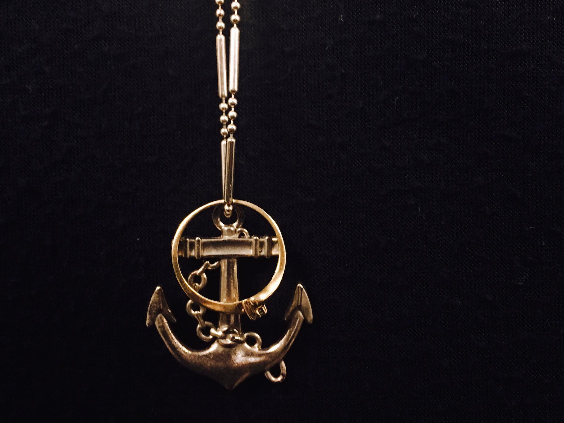 Danielle's anchored-ring necklace.