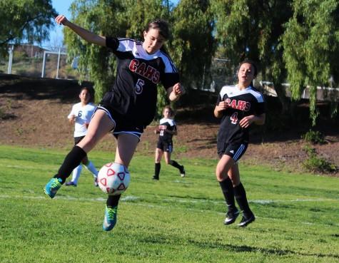 The Girls JV Soccer team ends a difficult season strong