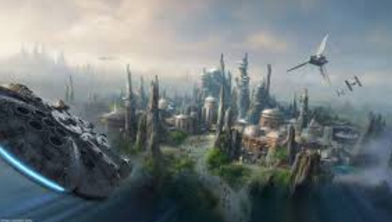 Made by Disney, to show what the park will look like