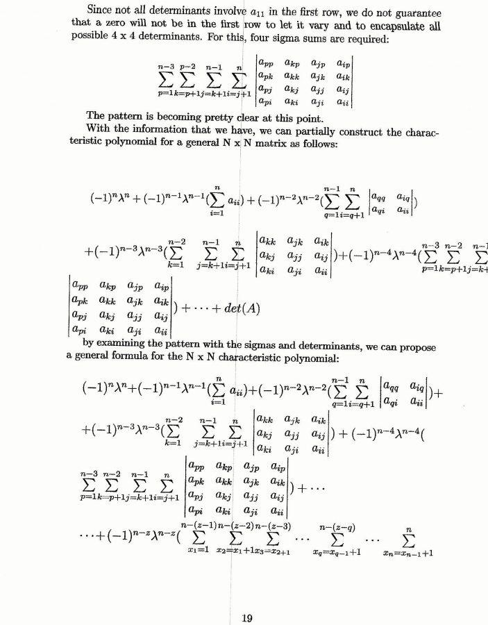 General Formula For the Characteristic Polynomial