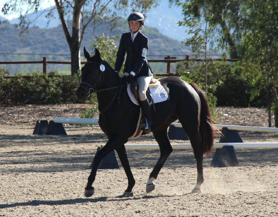 Geffeney and Kricket during dressage. Photo courtesy of  Sydney Geffeney.