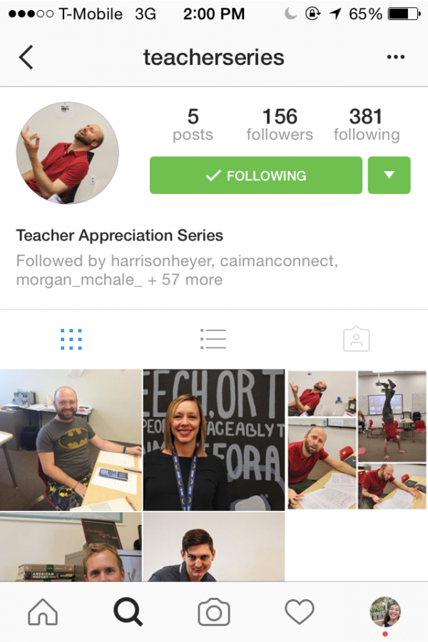 Giving Back: The CAHS Teacher Appreciation Instagram
