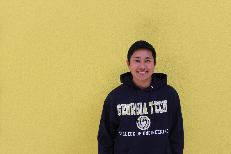 Senior+David+Zhou+sports+a+Georgia+Tech+engineering+sweatshirt.+Photo+taken+by+Skylar+Todd.+